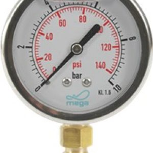 Gauges Stainless Steel Glycerine bottom entry