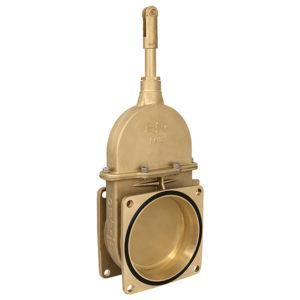 Brass vacuum tanker gatevalve