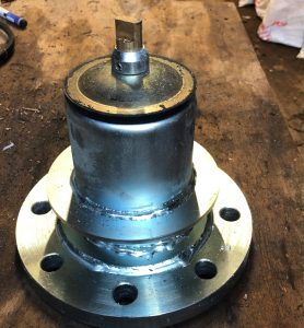 4″ Wright Rain Hydrant top welded onto DN100mm Flange